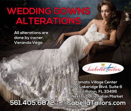Isabella Tailors - Wedding dress alterations Boca Raton